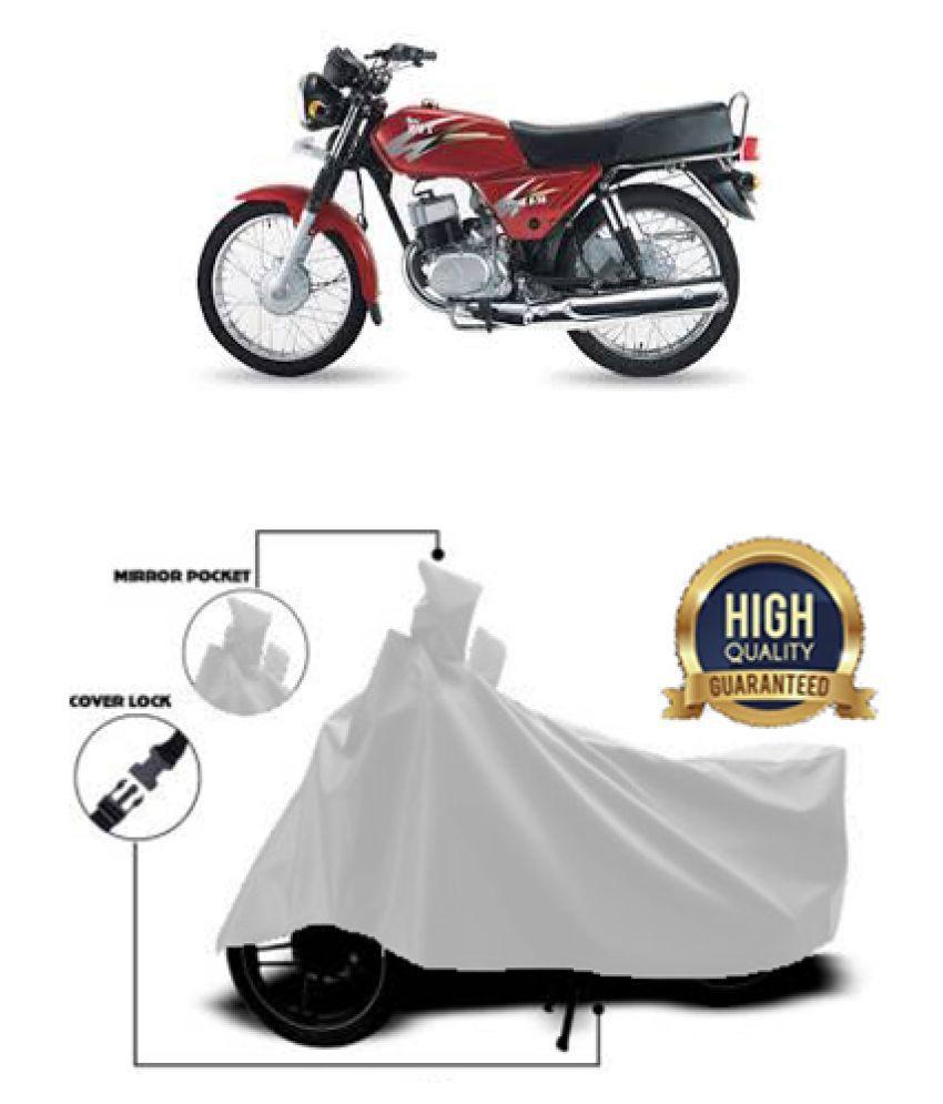 QualityBeast two wheeler cover for Suzuki Max 100 R (Silver)