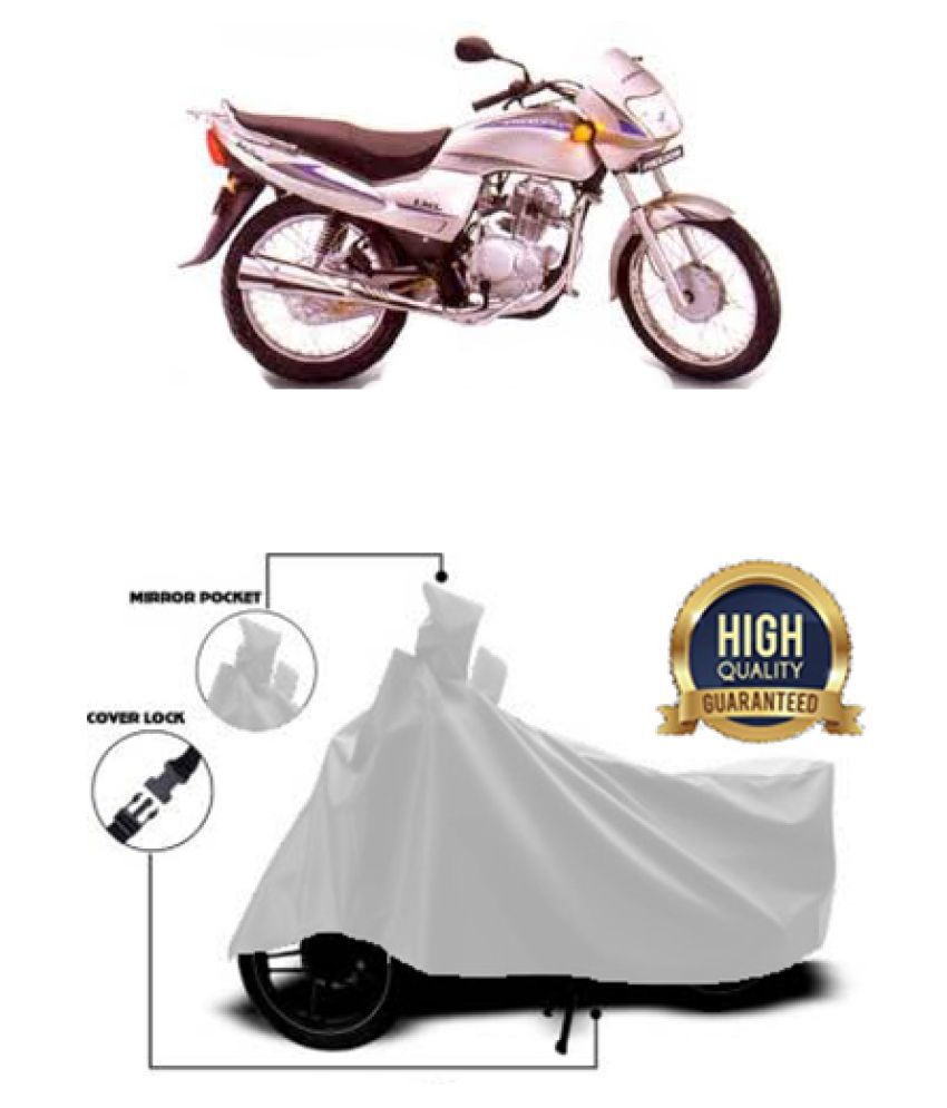 QualityBeast two wheeler cover for LML Freedom (Silver)