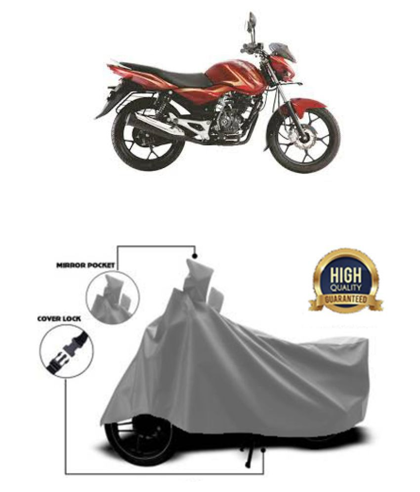 QualityBeast two wheeler cover for Bajaj Discover 125M Grey