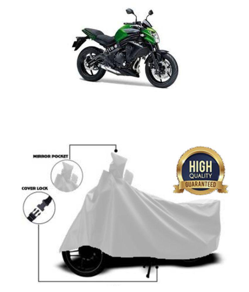 QualityBeast two wheeler cover for Kawasaki ER6n (Silver)