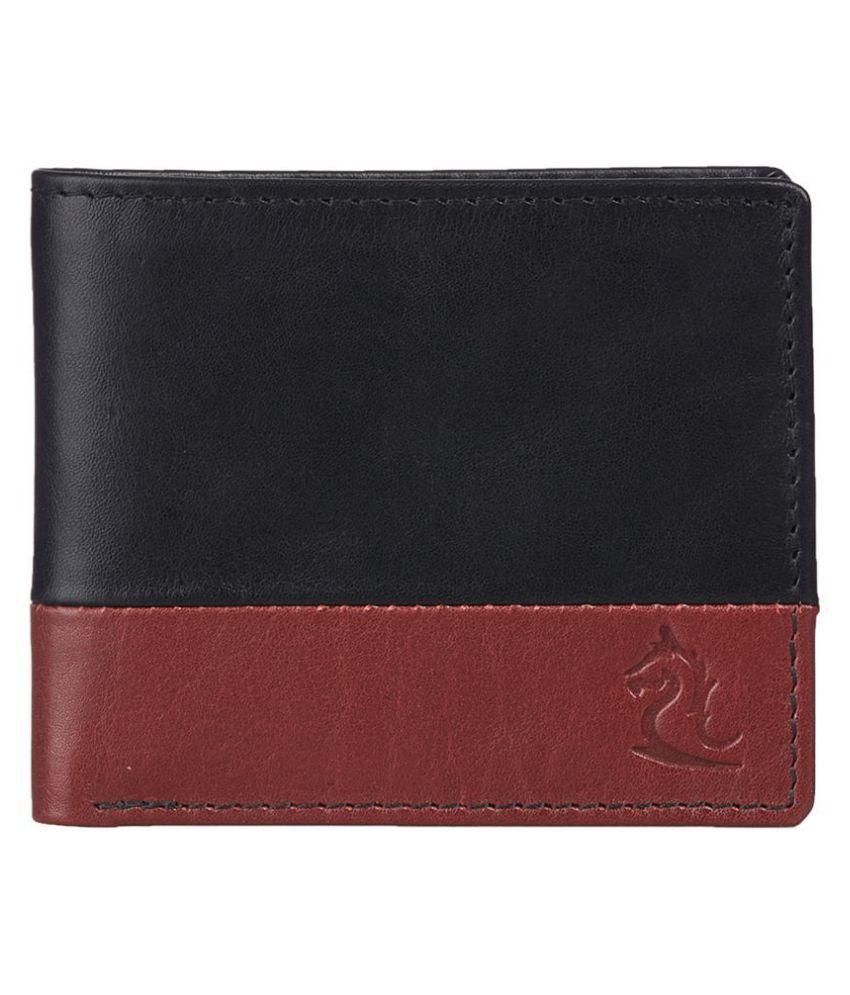 Kara Leather Black Formal Regular Wallet