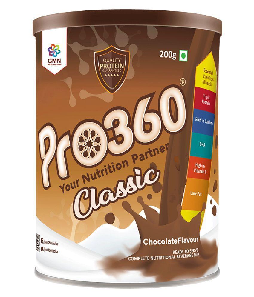 PRO360 Classic Protein Health Drink Powder 200 gm Chocolate