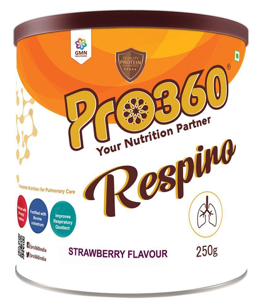 PRO360 Respiro Protein Powder Health Drink Powder 250 gm Strawberry