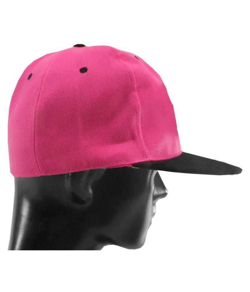 SJ Pink Plain Cotton Caps