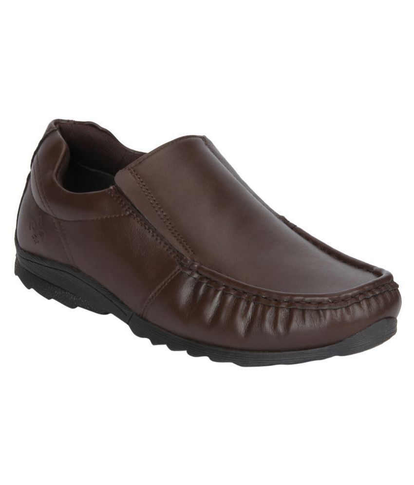 Bond Street Slip On Brown Formal Shoes