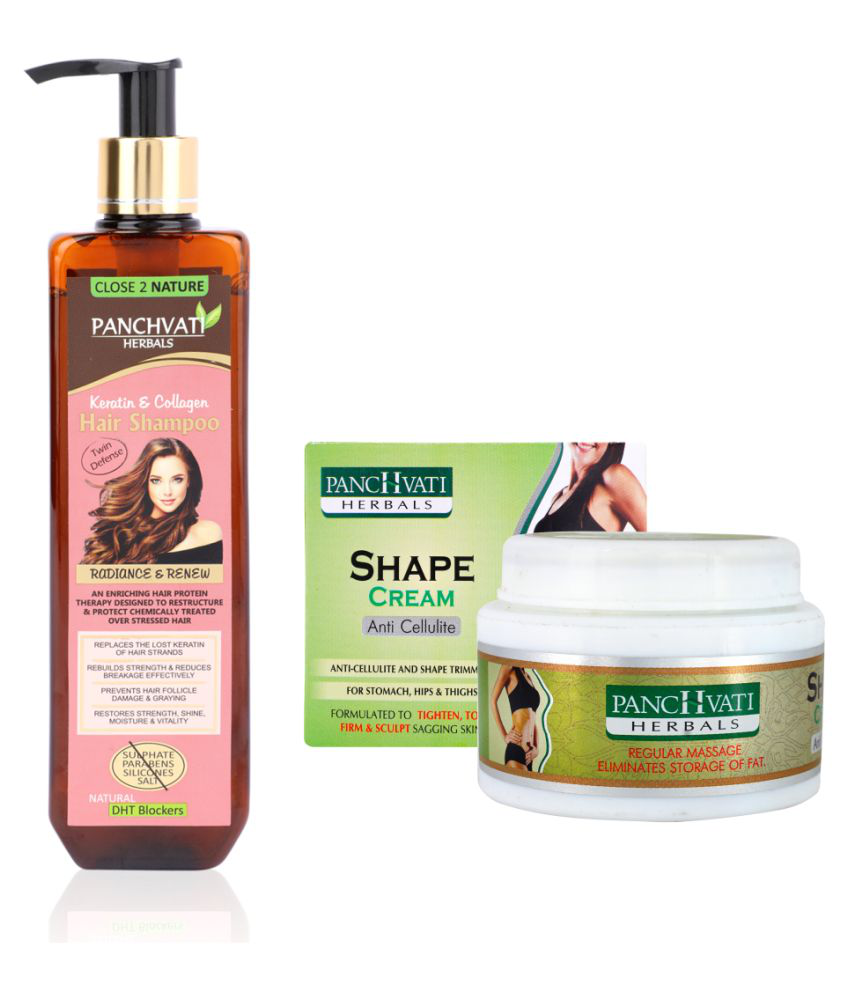 Panchvati Hair Shampoo & Anti Cellulite Shaping & Firming Cream 400 g Pack of 2