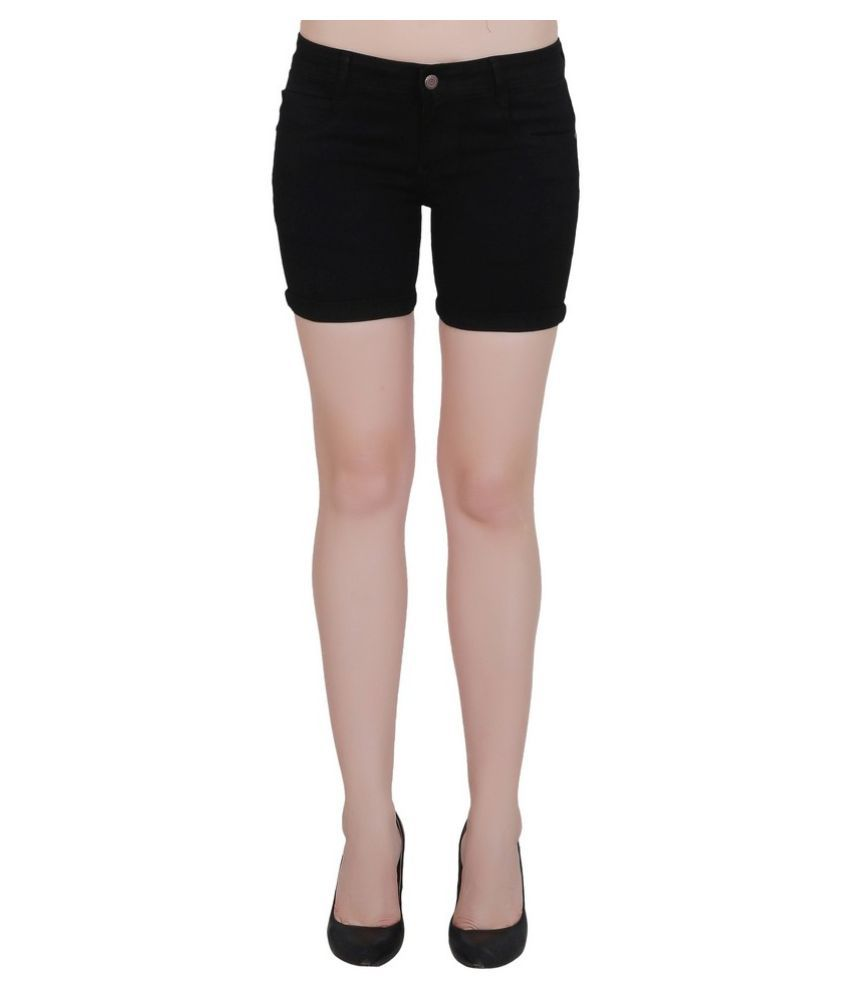 FORTH Denim Hot Pants - Black