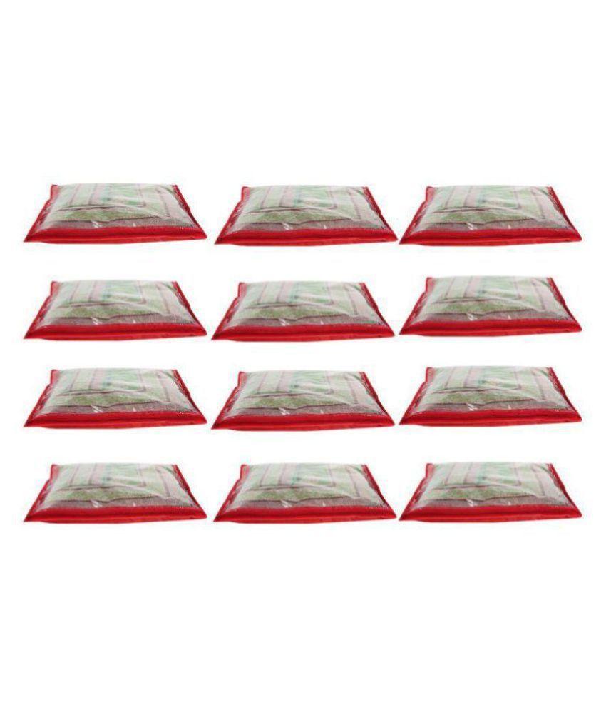 Bulbul Red Saree Covers - 12 Pcs