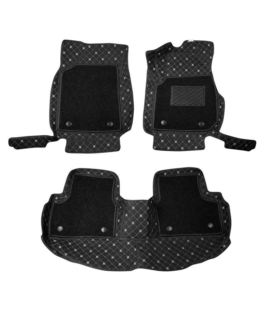 WIINE Leatherite 7D Car Mats For Tata Safari Dicor (2011) (Black)