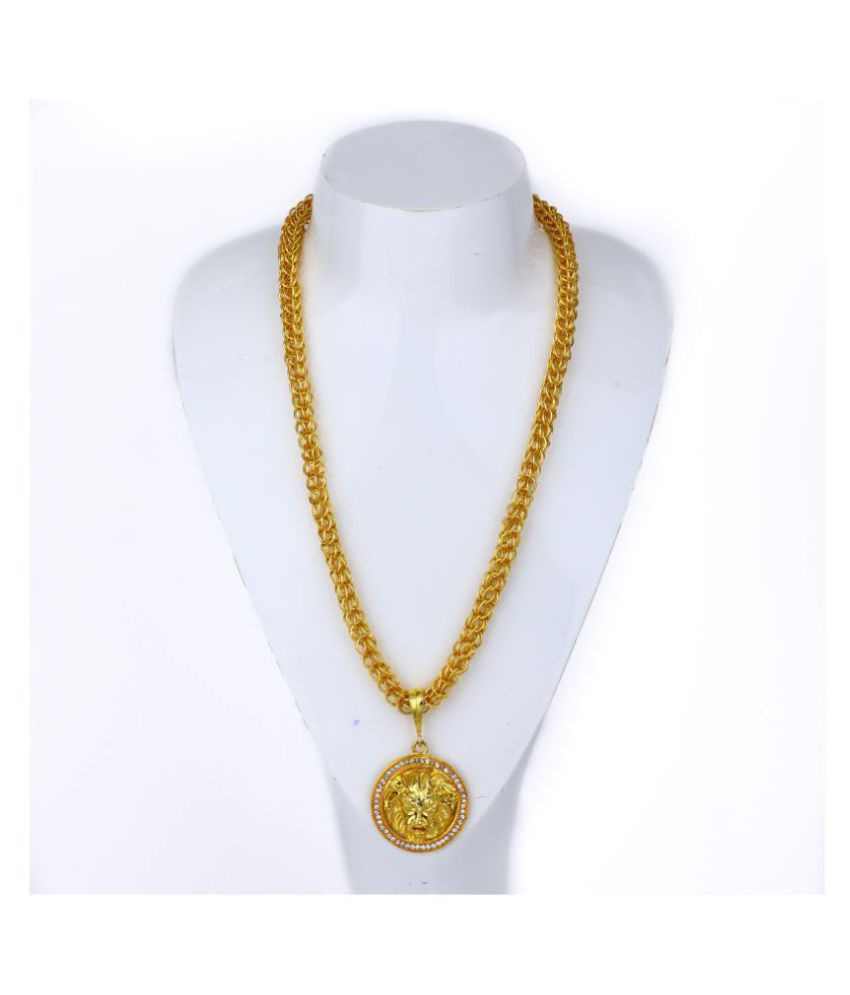 DIPALI LION Pendant/Locket With Gold Plated Chain For Men