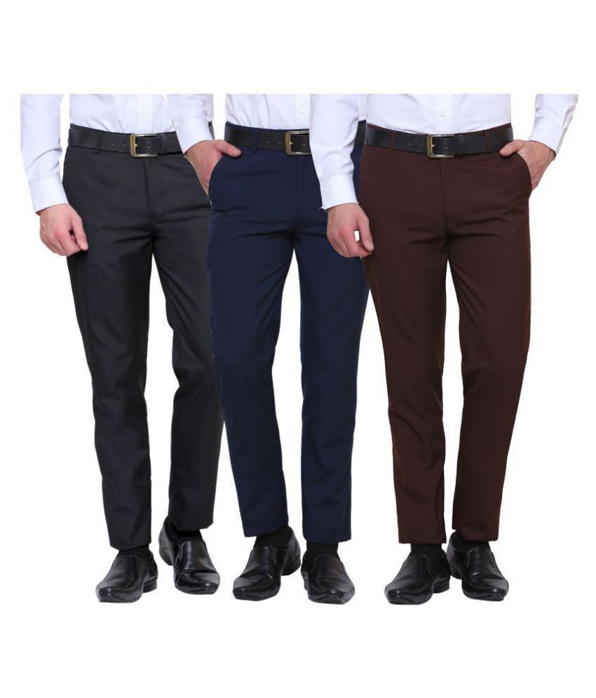 Inspire Clothing Inspiration Multicolored Slim -Fit Flat Trousers