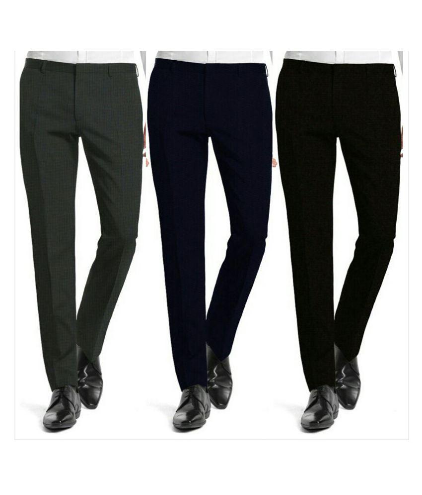Inspire Clothing Inspiration Multi Slim -Fit Flat Chinos
