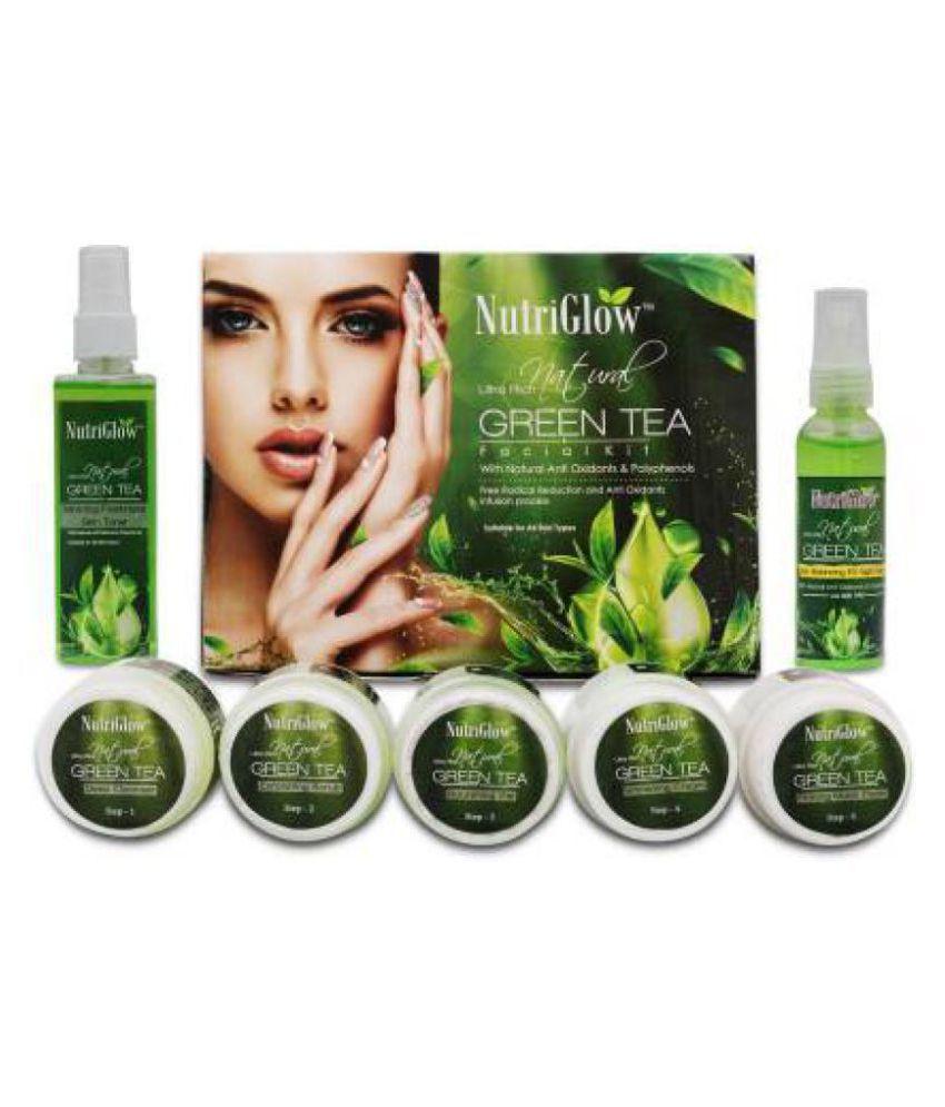 Nutriglow Facial Kit Green Tea Facial kit  450 g Pack of 3