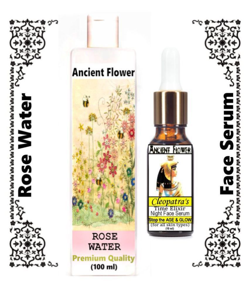 Ancient Flower - Rose water, Cleopatra's Face Serum 110 mL