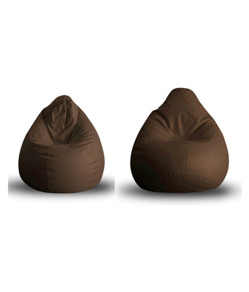 Home Story Classic Bean Bag XL Size Brown Cover Only
