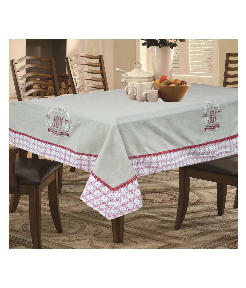 R home 4 Seater Cotton Single Table Covers