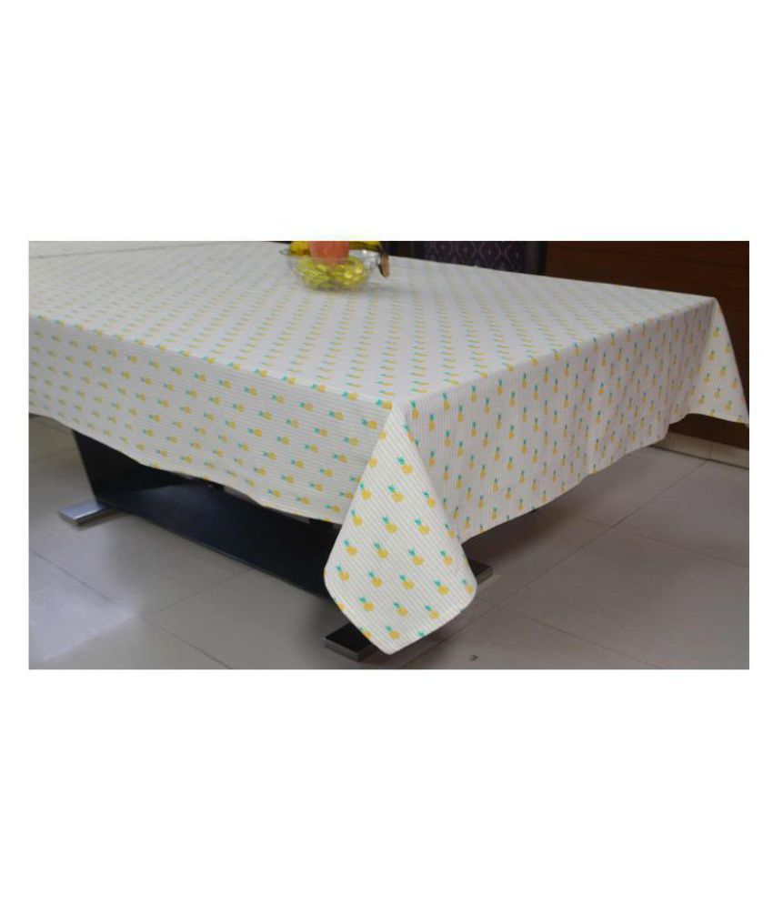 R home 6 Seater Cotton Single Table Covers