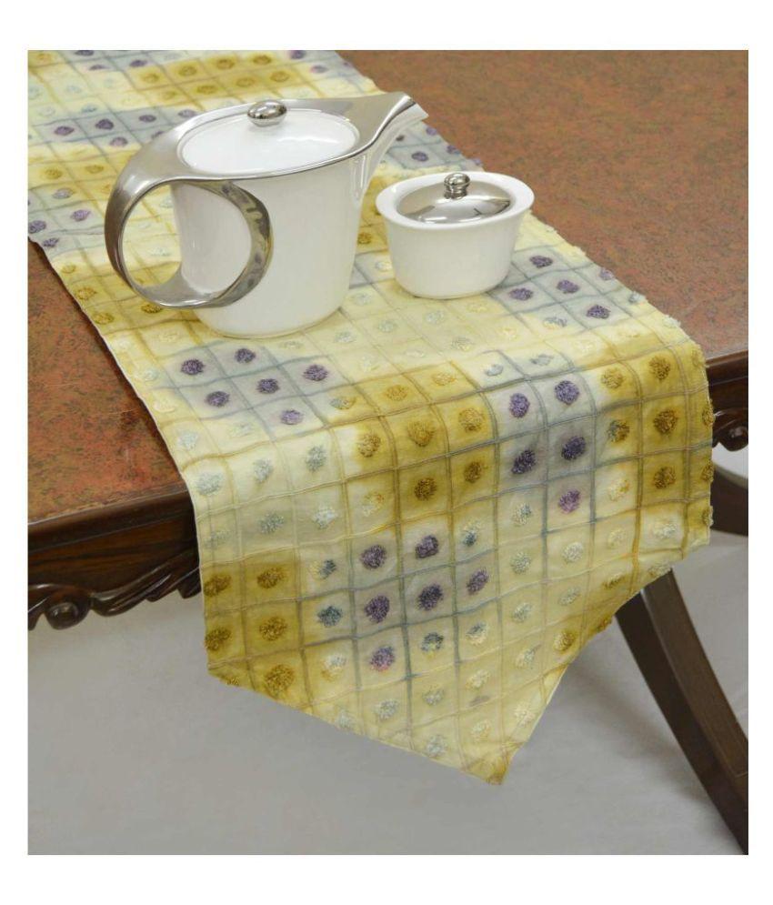 R home 6 Seater Silk Single Table Runner