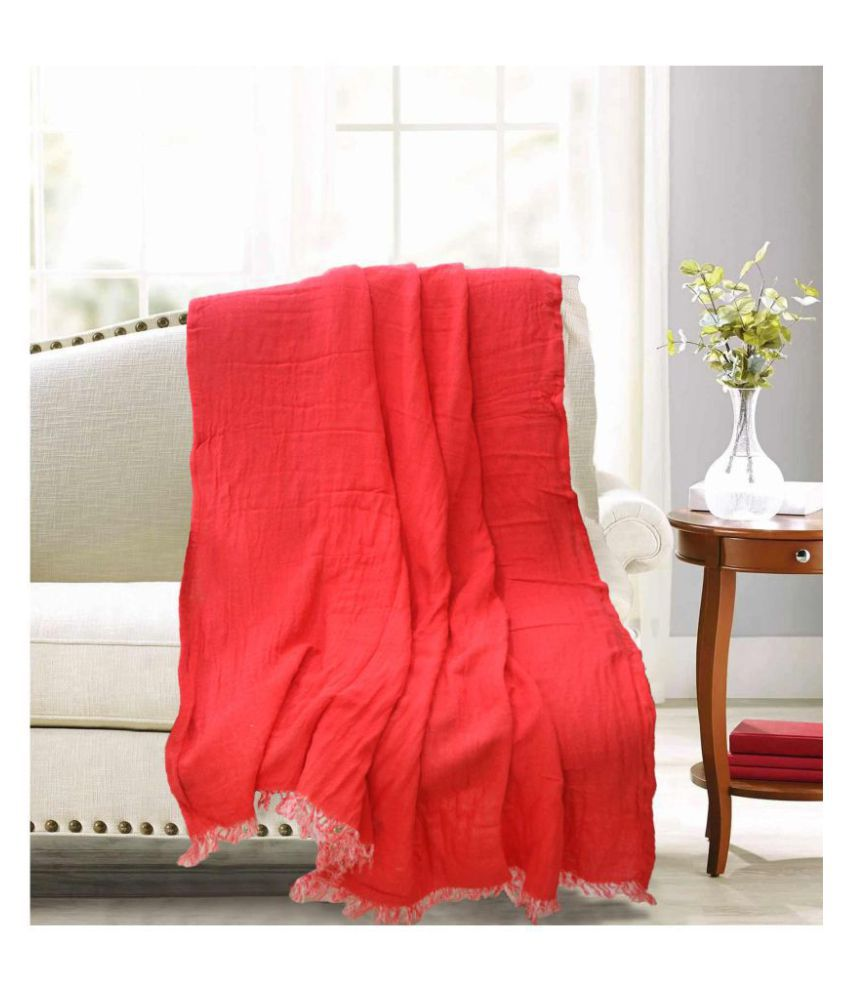 R home Single Cotton Plain Blanket