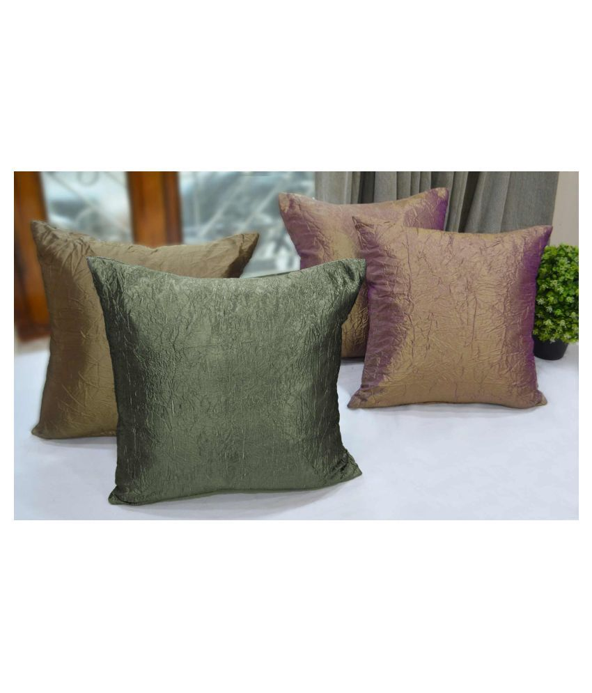 Rhome Set of 4 Polyester Cushion Covers 40X40 cm (16X16)