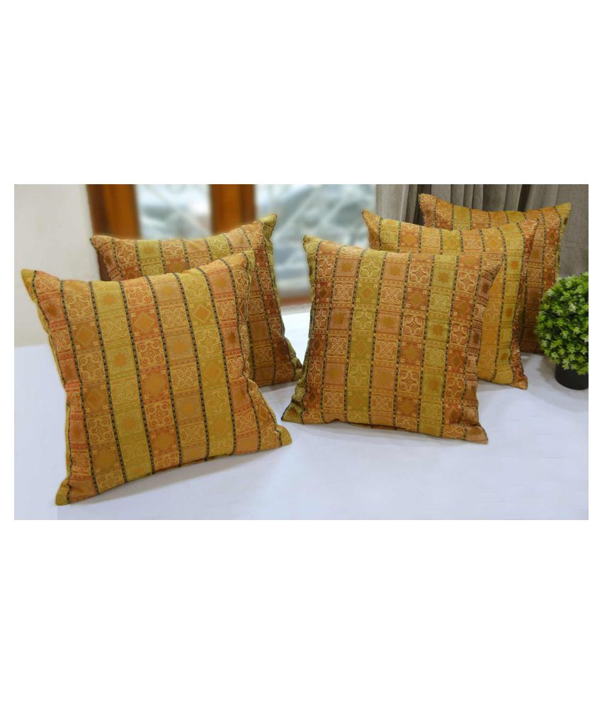 Rhome Set of 5 Polyester Cushion Covers 40X40 cm (16X16)