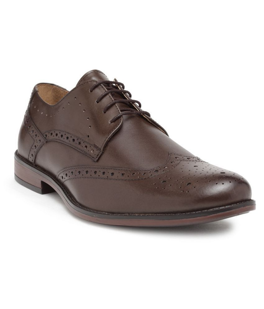 NOBLE CURVE Brogue Brown Formal Shoes