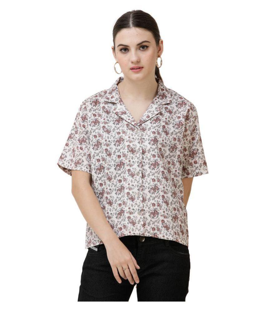 DECHEN Pink Rayon Shirt