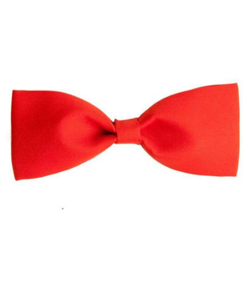 The Vatican Red Plain Micro Fiber Necktie