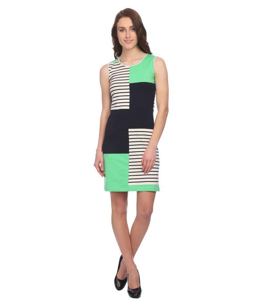 Taaruush Cotton Multi Color A- line Dress