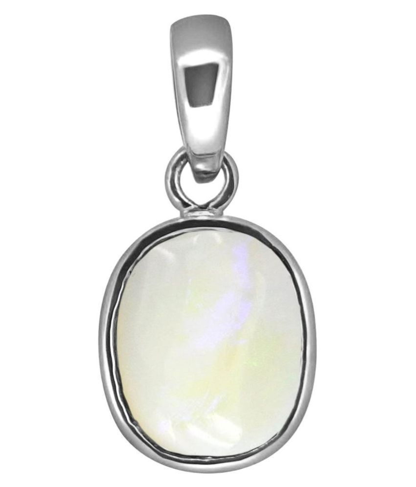 A1 Gems 7.25 Ratti 6.42 Carat A+ Quality Opal Gemstone Pendant for Women's and Men's