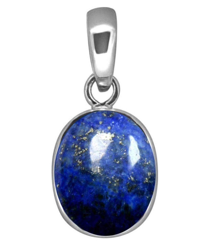 A1 Gems 7.25 Ratti 6.42 Carat A+ Quality Certified Lapis Lazuli Gemstone Pendant