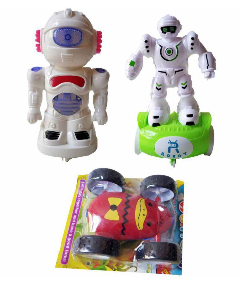 Lighting Robots Rope Operator Pull & Back Double Sided Pull/Push Car for  Toy Combo for Kids