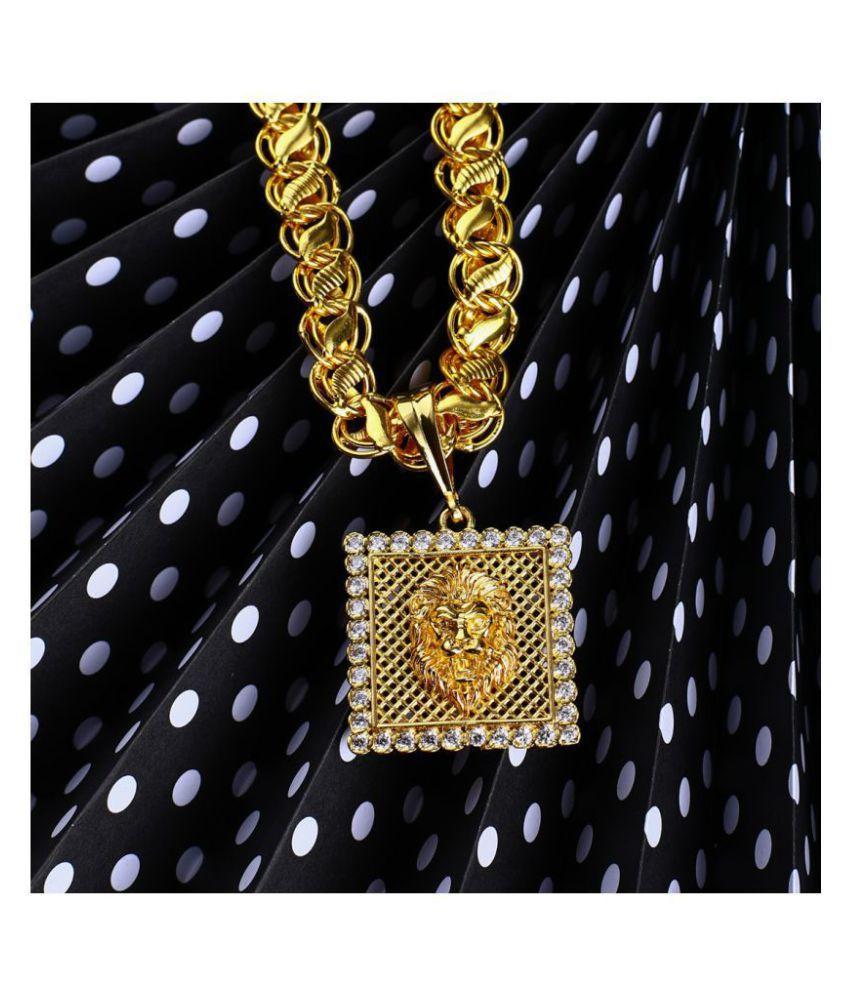 DIPALI Pendants for Men Gold Plated Chain PENDANT for Men