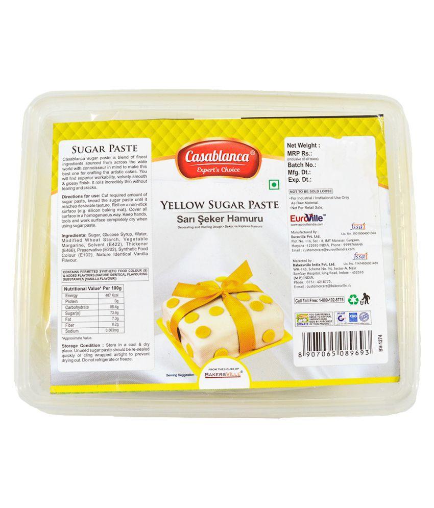 Casablanca Sugar Paste (Yellow), 400 g