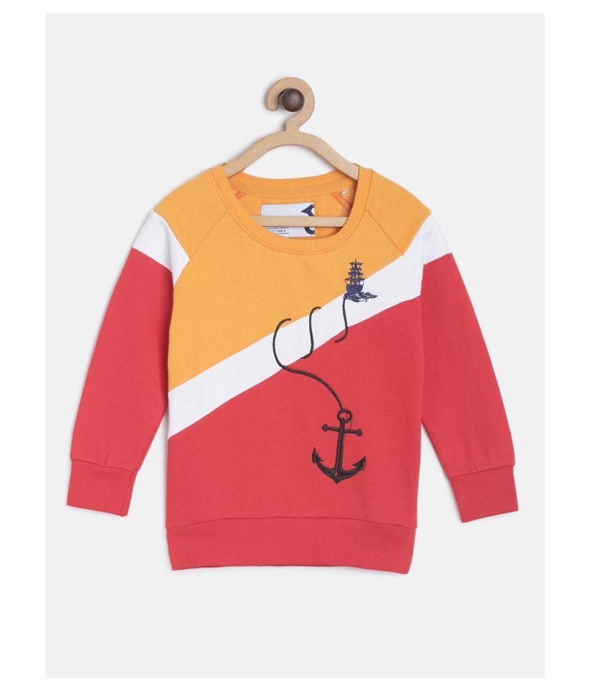 Tales & Stories Boys Cotton Multicoloured Embroidered Full Sleeve Sweatshirt