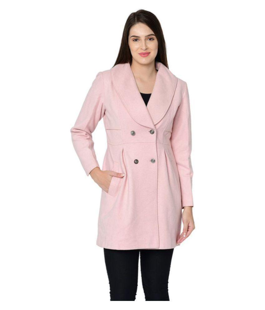 Owncraft Woollen Pink Over coats