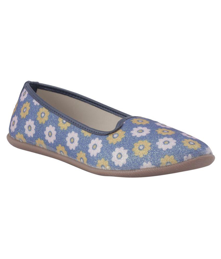 Adrianna Girls Blue Loafer Shoe