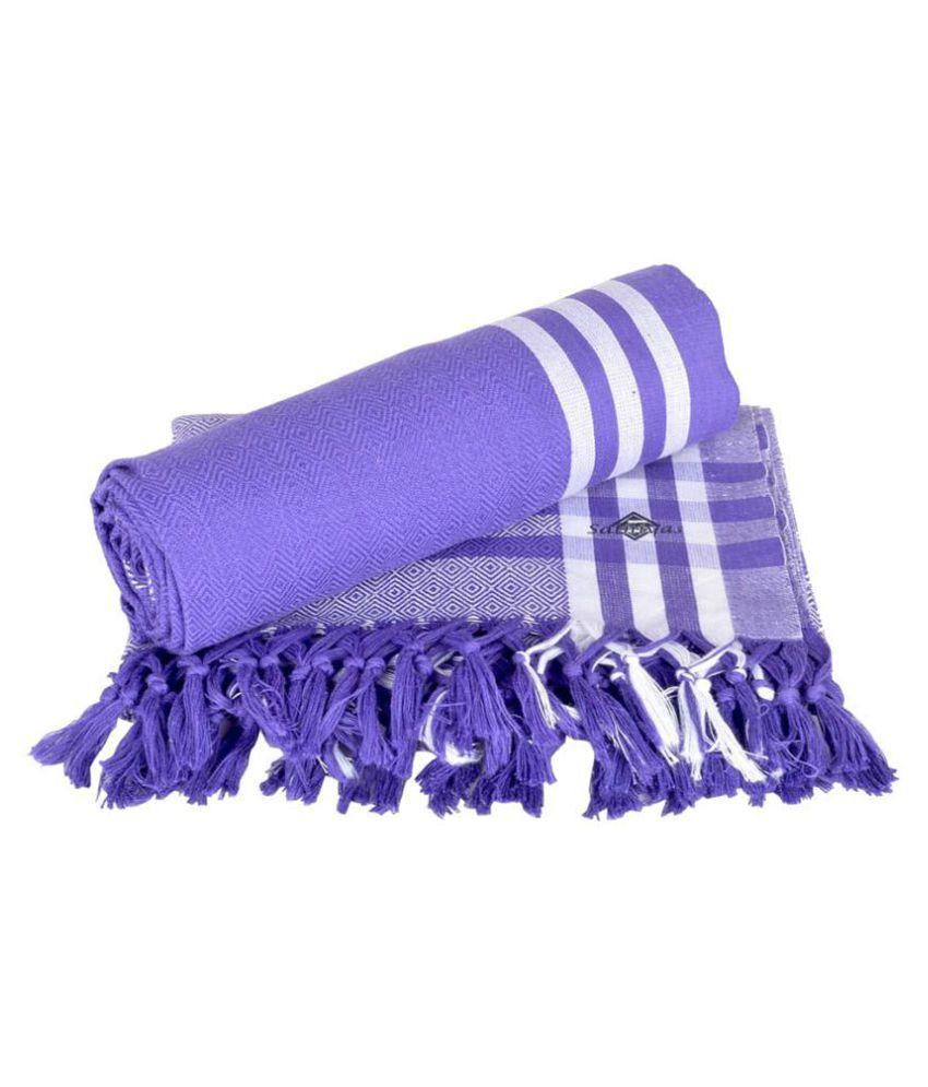 Sathiyas Set of 2 Cotton Bath Towel Purple