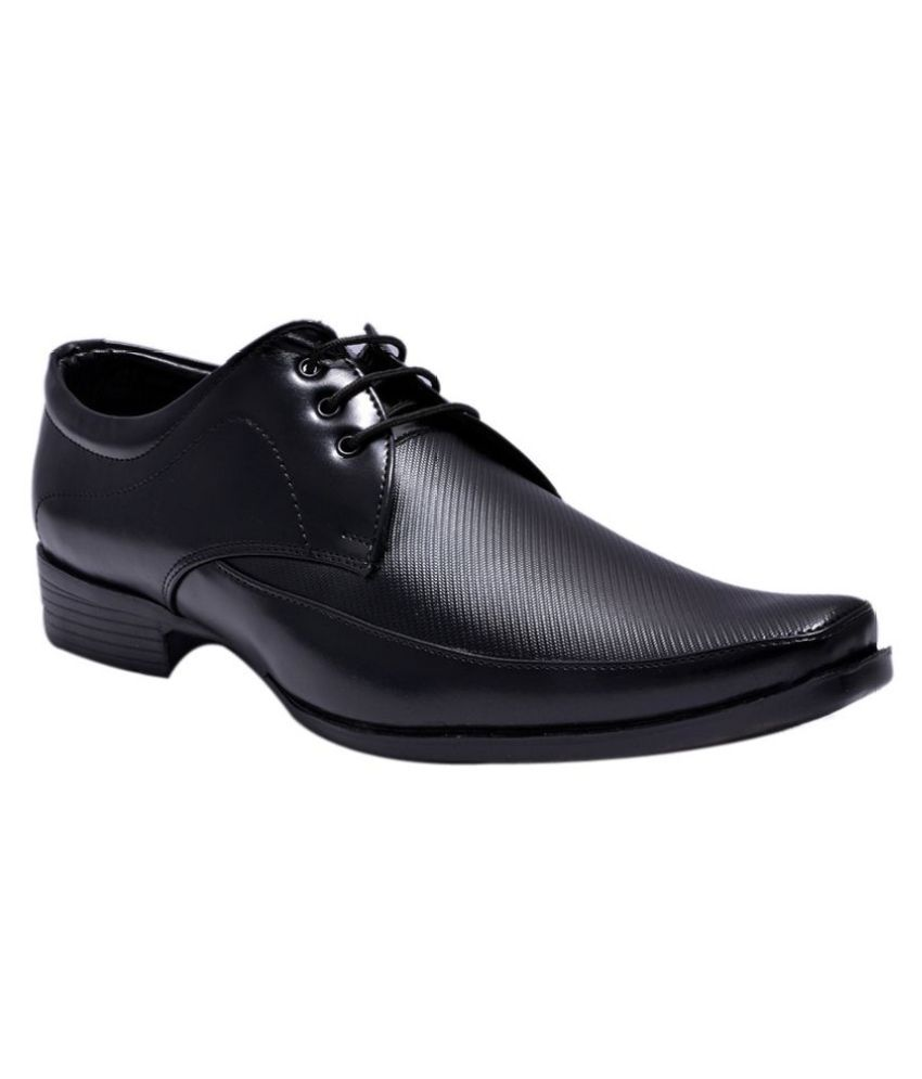 Sir Corbett Artificial Leather Black Formal Shoes