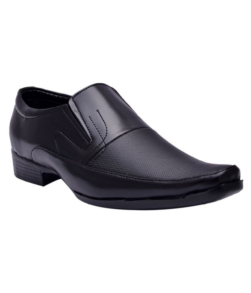 Sir Corbett Party Artificial Leather Black Formal Shoes