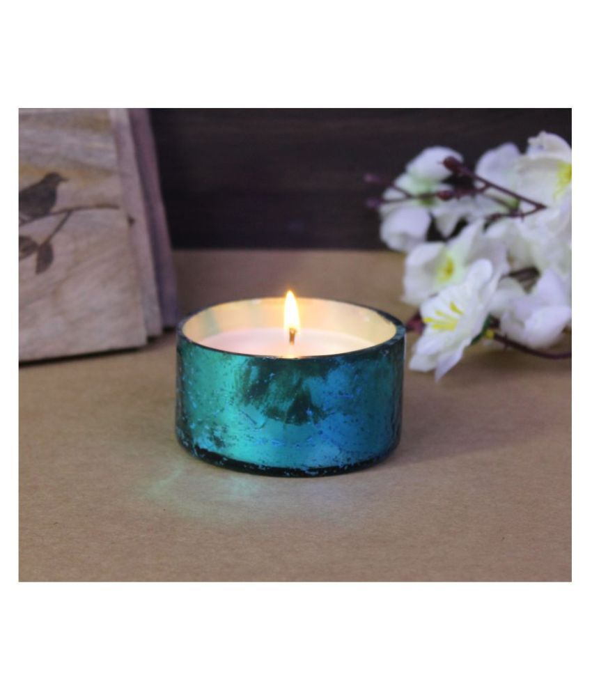 Hosley Blue Jar Candle - Pack of 1