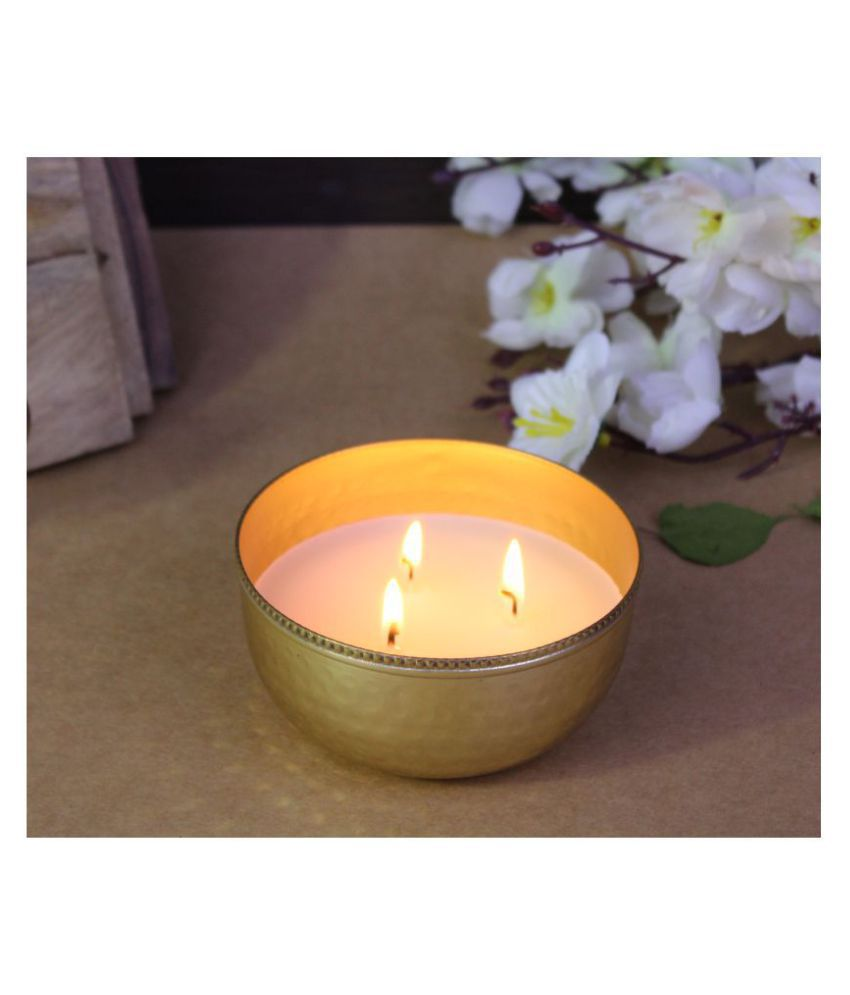 Hosley Gold Jar Candle - Pack of 1
