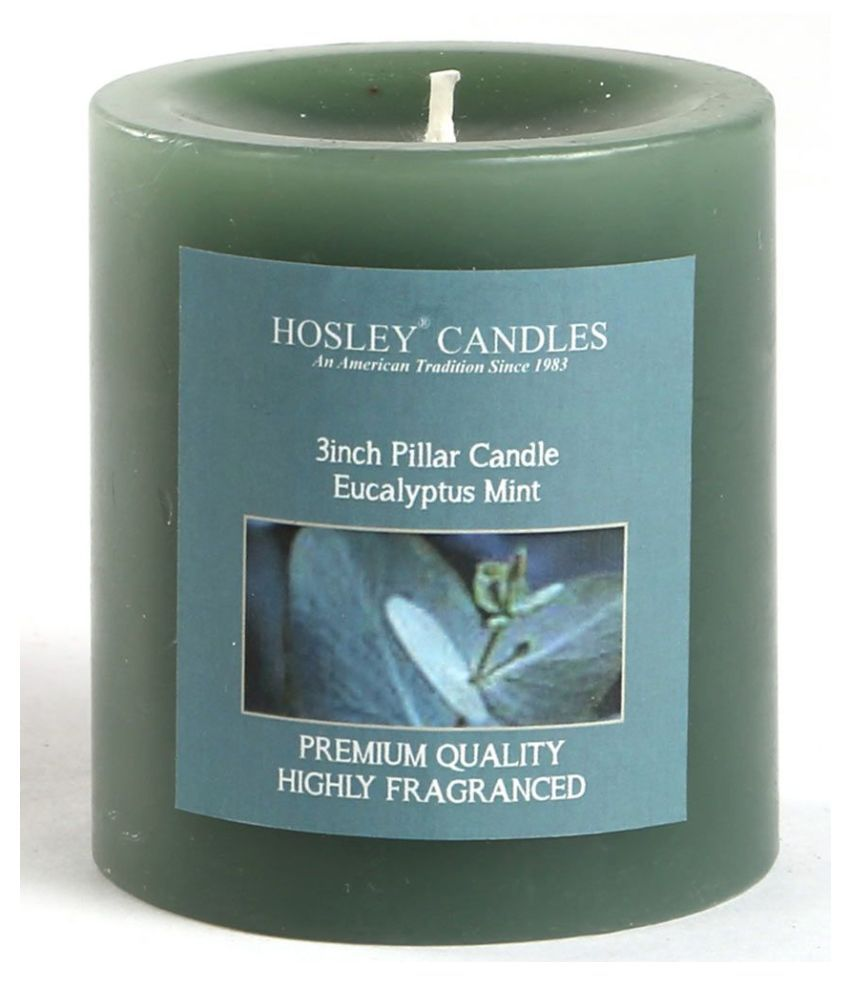 Hosley Grey Pillar Candle - Pack of 1