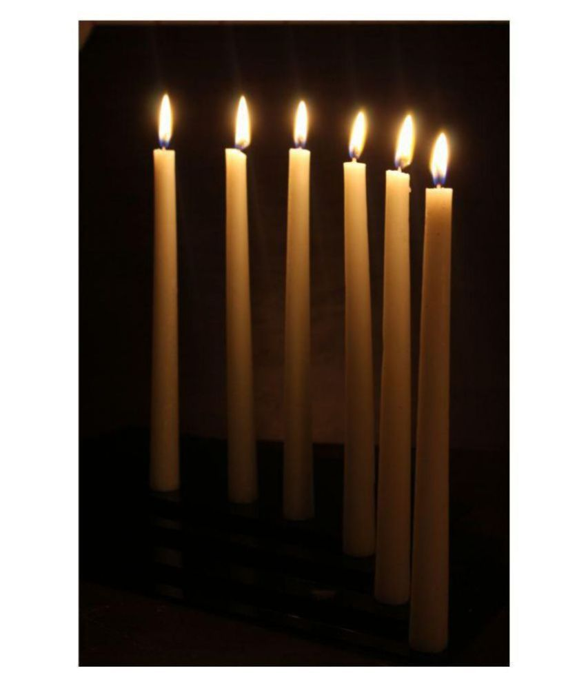 Hosley White Tapered Candle - Pack of 6