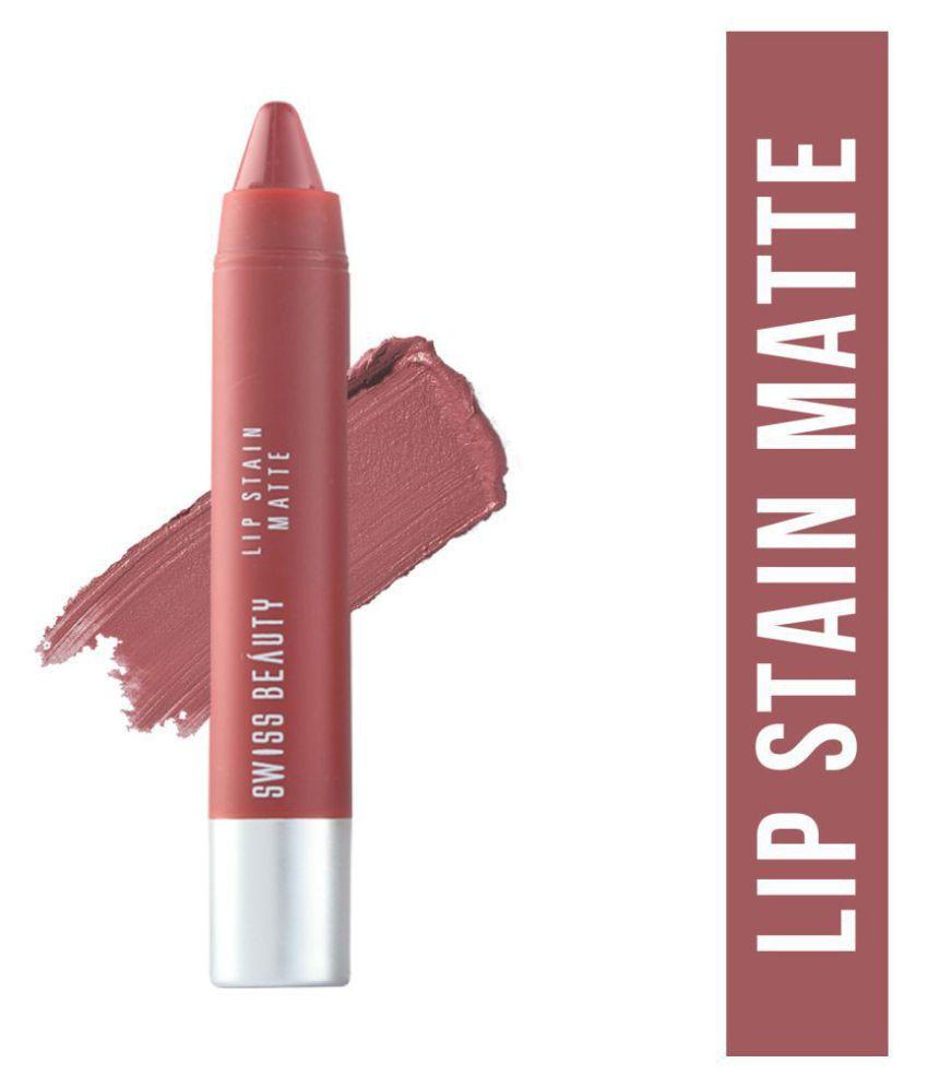 Swiss Beauty Lip Stain Matte Lipstick Lipstick Nude 3 g