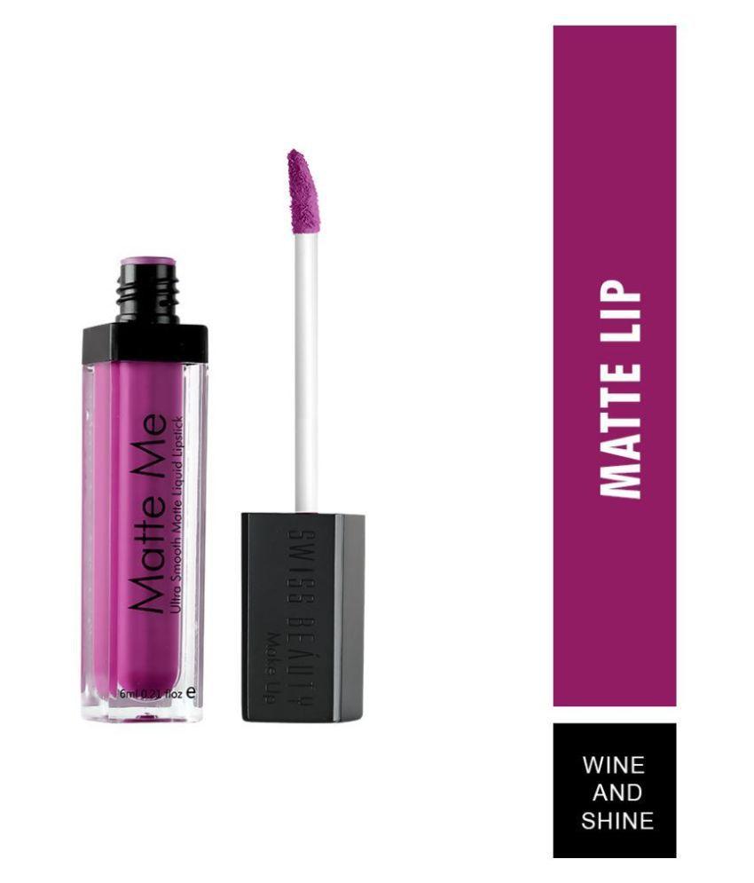 Swiss Beauty Liquid Lipstick Shade Shine and Wine 6 mL