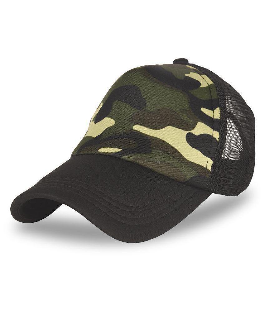 DRUNKEN Khaki Printed Acrylic Caps