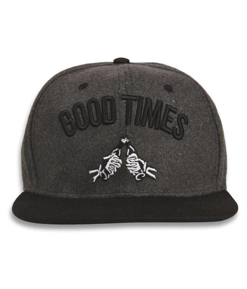 DRUNKEN Women's Winter Caps Women Good Times Fleece Snapback Hip Hop Cap Warm Cap Dark Grey Freesize