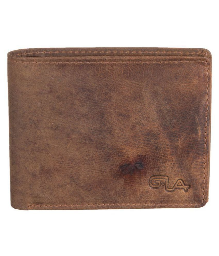 Goodwill Leather Art Leather Brown Casual Regular Wallet