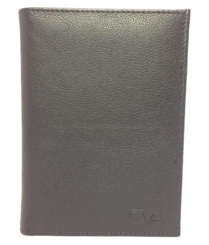 Goodwill Leather Art Bi-Fold Black Long Card Holder